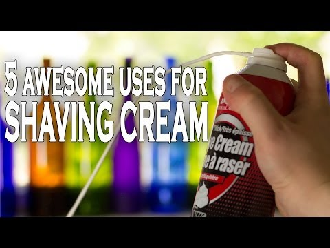 5 modi alternativi di usare la schiuma da barba!