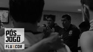 Confira a roda do elenco no vestiário e o que falaram Carille e Guilherme Arana após a vitória no Maracanã!
