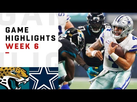 Jaguars vs. Cowboys Week 6 Highlights  NFL 2018