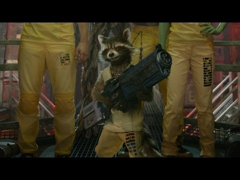 m. - Rocket Raccoon fills in his newfound teammates on what he requires in order to bust them out of prison.