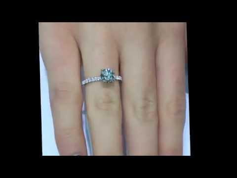 1.10 carat Round Cut Diamond Custom Engagement Ring in Micro Pave Setting