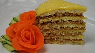 Капустный торт с фаршем