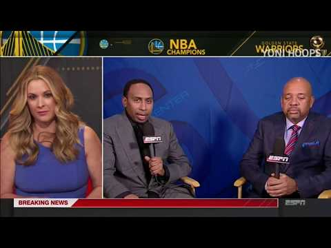 Stephen A. Smith On Warriors Winning The Championship   Kevin Durants Brilliants   Postgame Analysis