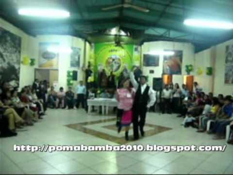 CHIMAYCHI  : BAILA  CARLOS EGUSQUIZA  R . EN EL 149  ANIVERSARIO DE POMABAMBA