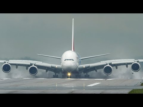 SMOOTHEST AIRBUS A380 LANDING ever (No smoke!) - Best A380 Landing I have ever seen (4K)
