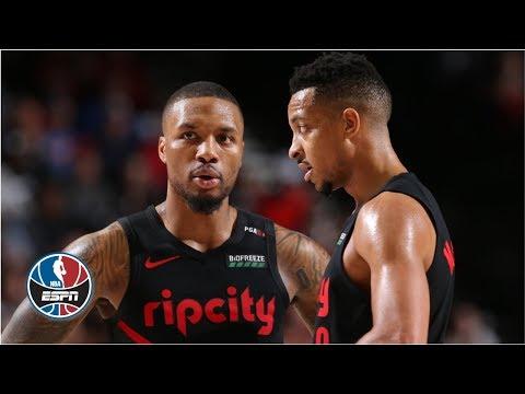 Video: Damian Lillard and CJ McCollum take Scottie Pippen behind the scenes in Portland   NBA Countdown