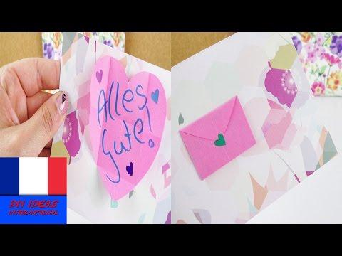 Jolie carte d'anniversaire avec enveloppe à faire soi-même