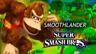 """Smoothlander"" custom equipment frame comparison with Donkey Kong [Smash 4]"