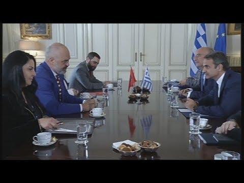 Συνάντηση του πρωθυπουργού Κ. Μητσοτάκη με τον πρωθυπουργό της Αλβανίας Έ. Ράμα