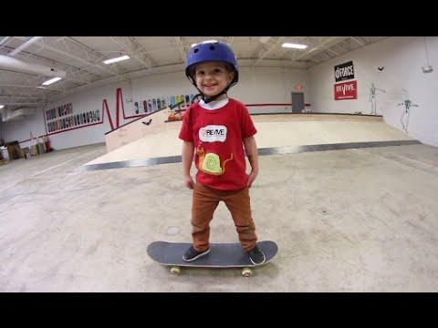 Father Son Skateboarding: Grind Training!