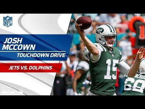 Video: Josh McCown Puts Together a Quick TD Drive Against Miami!   Jets vs. Dolphins   NFL Wk 7 Highlights