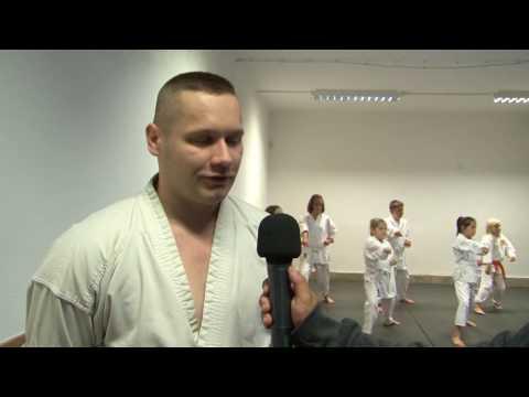 Karate edzésen