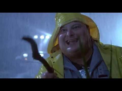 Jurassic Park 1993 - Fat guy dies HD (видео)