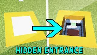 3X3 TRAP DOOR HIDDEN ENTRANCE - Minecraft Redstone Tutorial