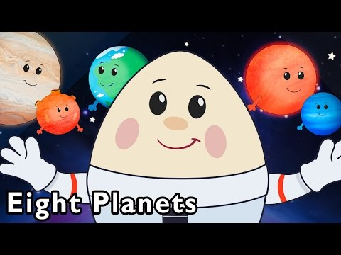 Surprise Egg Flies to the Stars | Eight Planets and More | Baby Songs from Mother Goose Club! (видео)
