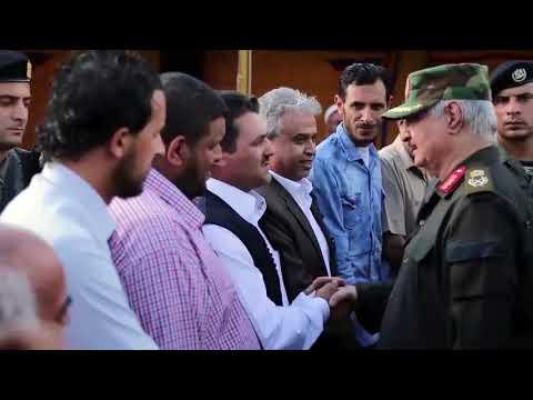 زيارة القائد العام للجيش الليبي لبلدية البيضاء