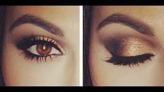 Gold Smokey Eye Tutorial | Eye Makeup Tutorial | Teni Panosian - YouTube