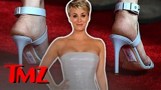 Kaley Cuoco Has A Red Carpet Fail!