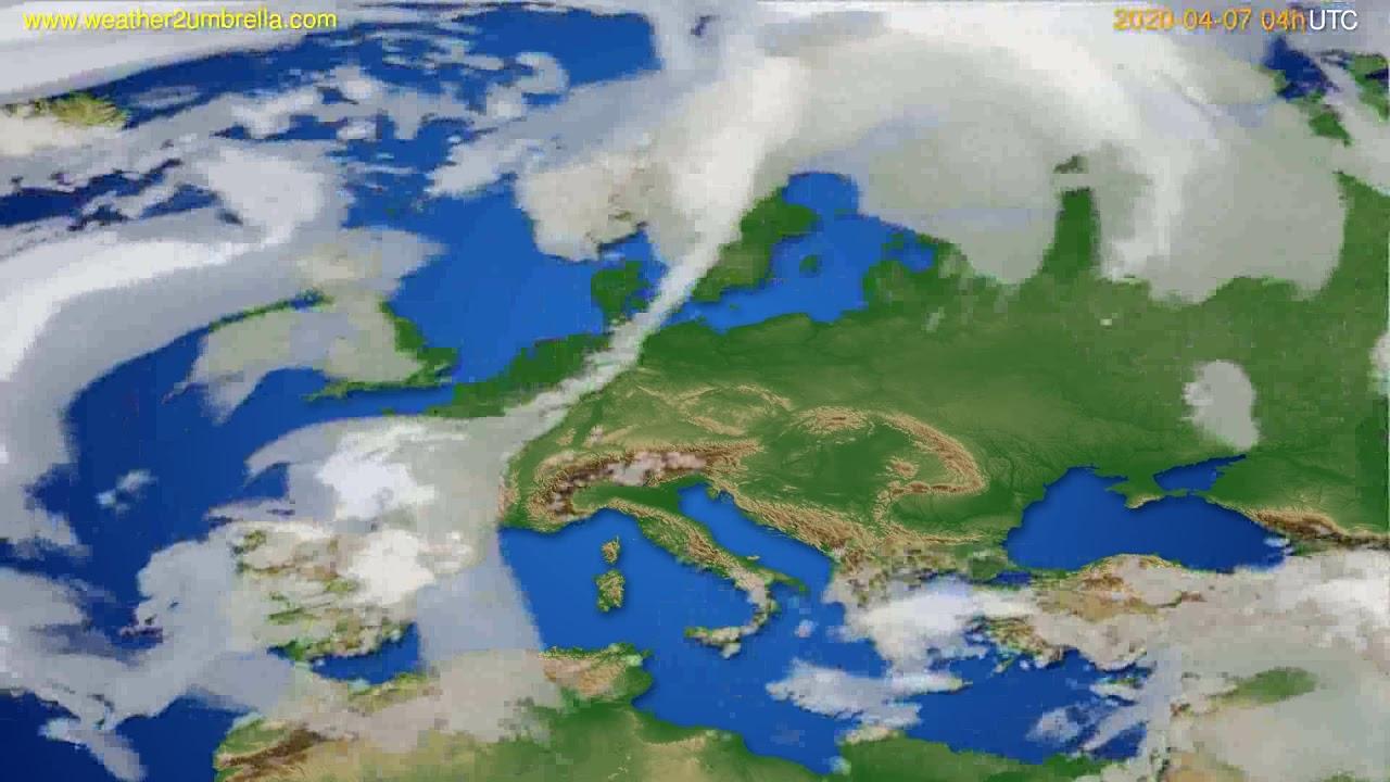 Cloud forecast Europe // modelrun: 12h UTC 2020-04-06