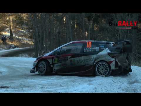 WRC Rallye Monte Carlo 2017 - SS08 - Mistakes and Crashes видео