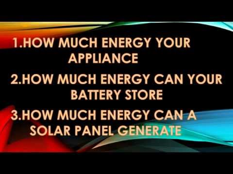 home solar power requirement Calculation