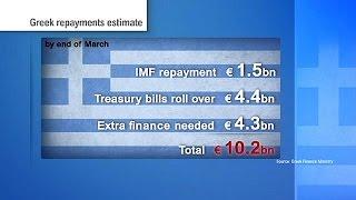 Grecia tiene que devolver 10.000 millones de euros de aquí a finales de marzo