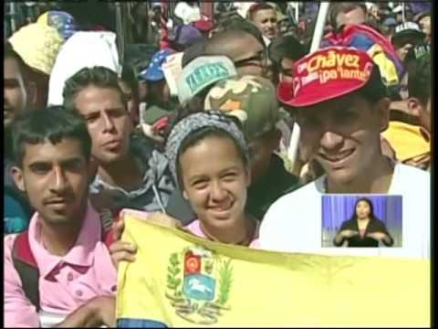Presidente Maduro recibe en Miraflores la Marcha de la Juventud, 1 de junio de 2016