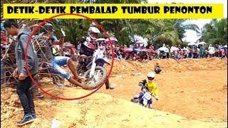#Detik-Detik pembalap Tumbur Penonton Gastrek Ulak Kupai Bengkulu