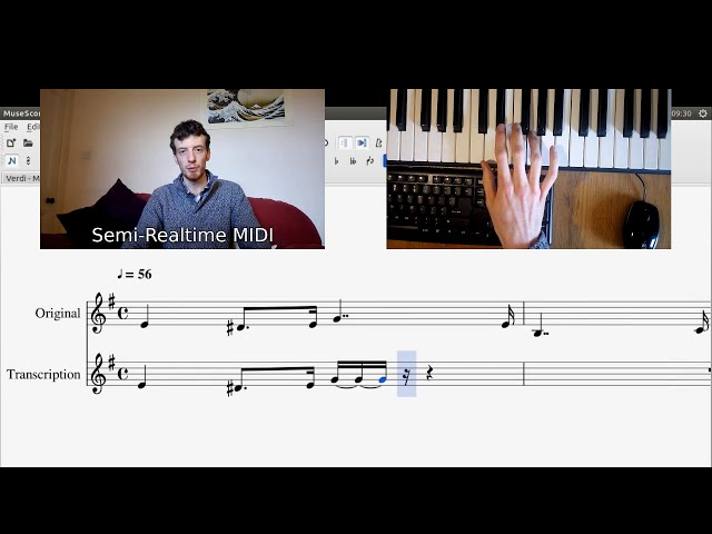 YouTube video: GSoC with MuseScore - Introducing Semi-Realtime MIDI