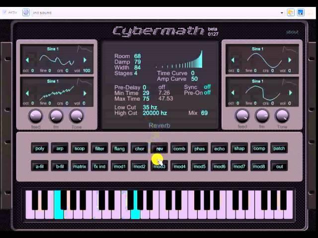 Freeware VST VSTi Plugin Synth Vol.2 2015 Cybermath beta Good for Dance Bass Techno