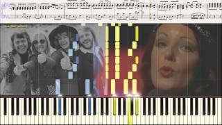 Money, Money, Money - ABBA (вариация) (Ноты и Видеоурок для фортепиано) (piano cover)