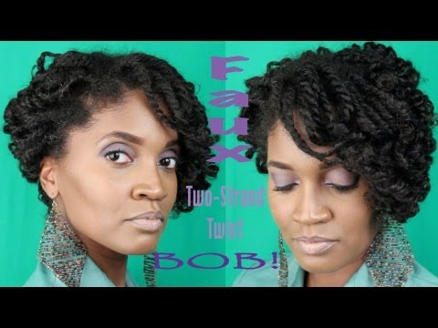 Hairstyle Tutorial: Two Strand Twist Faux Bob by Whoissugar