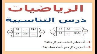 الرياضيات السادسة إبتدائي - التناسبية (2) تمرين 6