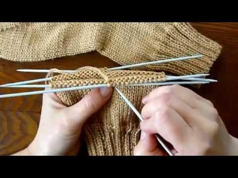 Мастер класс по вязанию носков » Петля - вязание 85