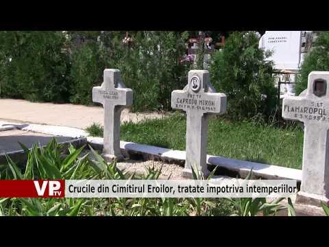 Crucile din Cimitirul Eroilor, tratate împotriva intemperiilor