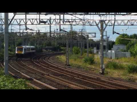 Stafford Railway Station Queensville Curve 170203 GA seen passing UF on 5Z09 on the 9th August 2017