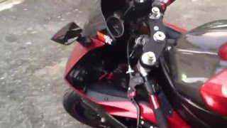9. 2006 yamaha R6 straight pipe with pc3