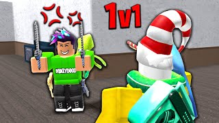 WE FOUGHT FOR A GODLY IN ROBLOX MURDER MYSTERY 2!!!