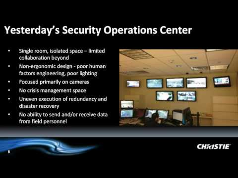 Webinar - Real-time situation awareness. Video wall design and technology for the SOC? | By Christie