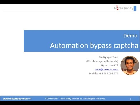 [Demo]: Automation bypass captcha