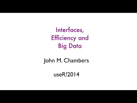 Interfaces, Efficiency and Big Data