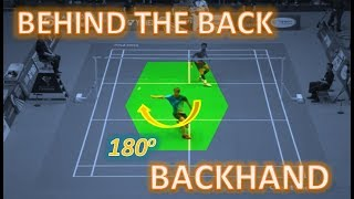 Video Who is The Masters BEHIND THE BACK BACKHAND Trick Shots? MP3, 3GP, MP4, WEBM, AVI, FLV November 2018