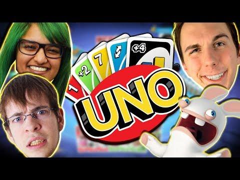 Skøre kaniner i vores Uno spil!? m. Lasse