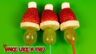 Fruit Grinch Pops Recipe ! - Easy Christmas Grinch Kabobs Recipe