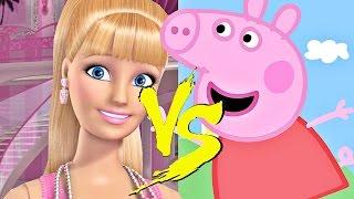 BARBIE vs PEPPA PIG - BATALHA DE RAP (PARÓDIA)