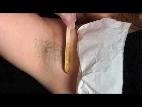 Warm Waxing Techniques - How To Remove Underarm Hair - Waxing Tutorial and Demonstration