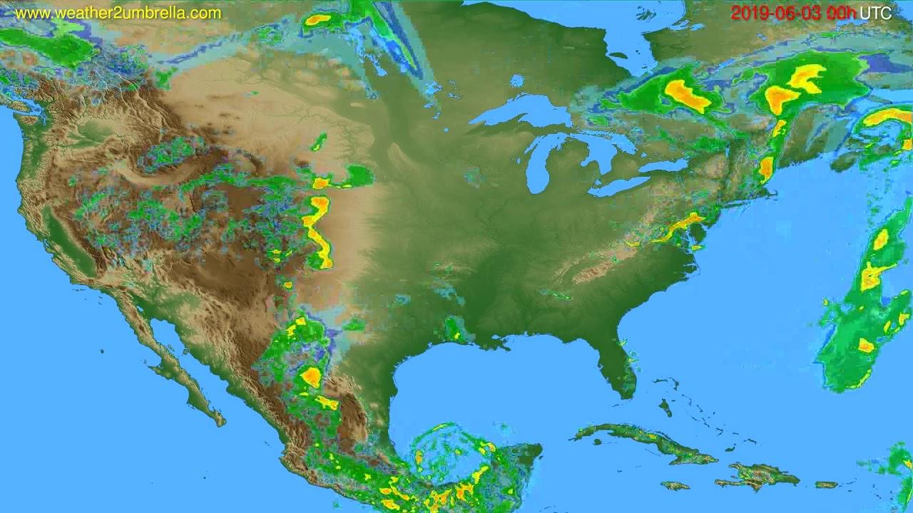Radar forecast USA & Canada // modelrun: 12h UTC 2019-06-02