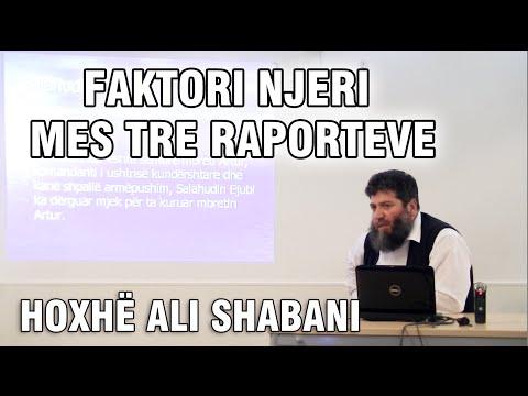 Faktori njeri mes tre raporteve - Hoxhë Ali Shabani