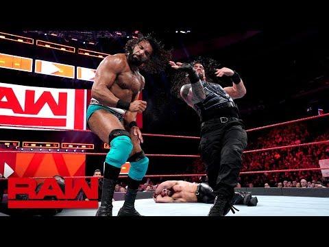 Roman Reigns & Seth Rollins vs. Kevin Owens & Jinder Mahal: Raw, May 21, 2018_Sport videók