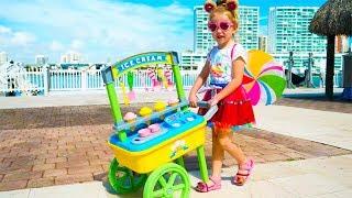 Nastya Pretend Play with ice cream toys